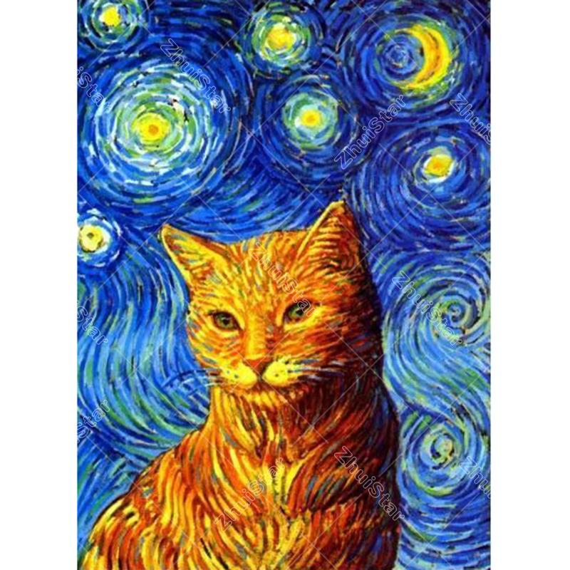 Sky Cat Embroidery M...