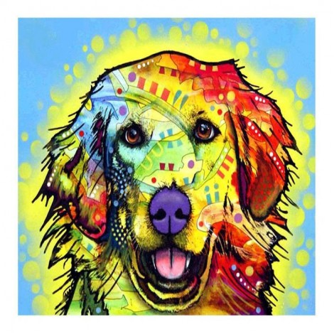 Bedazzled Special Pet Dog Embroidery Diy 5d Full Diamond Painting Kits UK QB5431