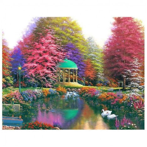 Autumn Series Pretty Colorful Cottage Diamond Painting Kits UK AF9619