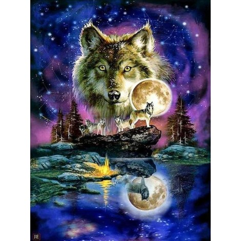 2019 Dream Colorful Special Wolf 5d Diy Diamond Painting Kits UK VM7806