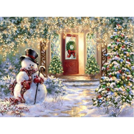 Christmas Snowman Full Drill 5D DIY Diamond Painting Kits UK NW91056