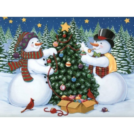 Christmas Snowman Full Drill 5D DIY Diamond Painting Kits UK NW91047