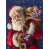 2019 Oil Painting Style Full Round Drill Santa Claus 5d Diy Diamond Painting Kits UK NA0366