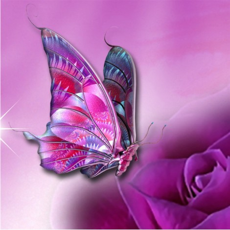 2019 Dream Colorful Butterfly Picture Patterns Diamond Painting Kits UK VM7652