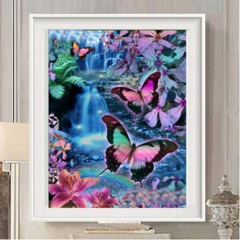 Best Modern Art Style Butterfly Diy 5d Full Diamond Painting Kits UK QB45570