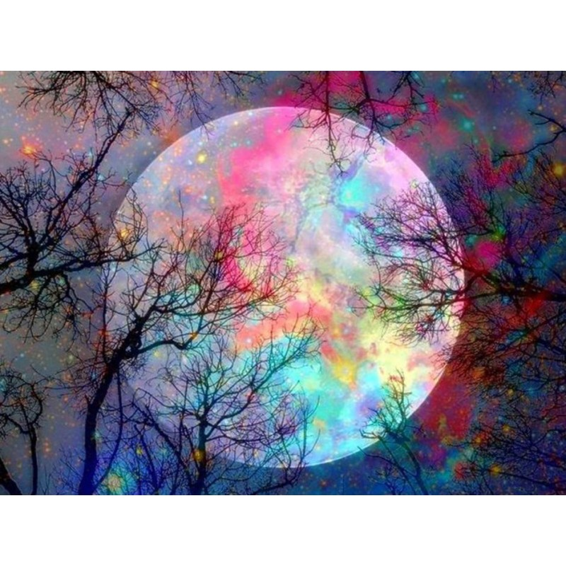 Dream Colorful Moon Tree ...