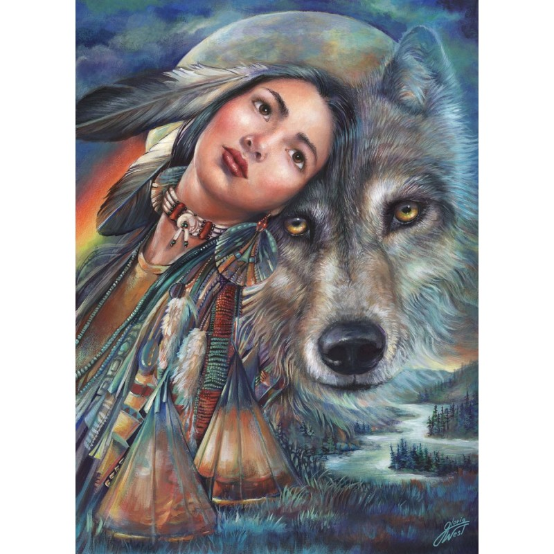 Beauty And Wolf 5D D...