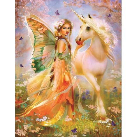 2019 Dream Beautiful Fairy 5d Diy Diamond Painting Kits UK VM8369