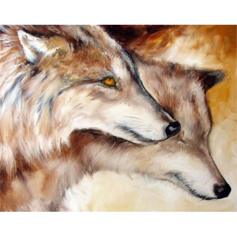 2019 Cheap Mosaic Wolf Wall Decor 5d Diy Diamond Painting Kits UK VM9885
