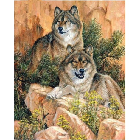2019 New Hot Sale Various Sizes 5d Diy Diamond Painting Wolf Kits UK VM8633