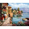2019 Cheap Full Square Coastal City Landscape 5d Diy Diamond Canvas Painting UK VM51154