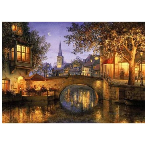 Cheap Landscape Town 5d Diy Embroidery Diamond Painting Kits UK BQ8108