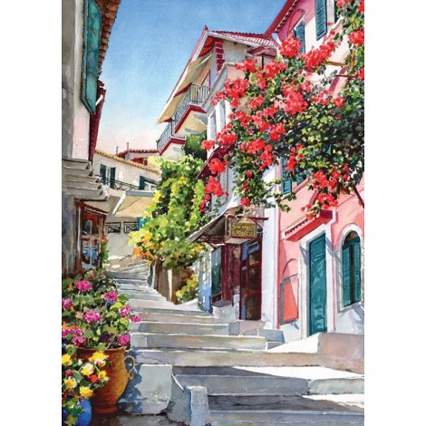 2019 Town Stairs Steps Full Drill 5D Diy Diamond Painting Kits Uk Cross Stitch VM90334