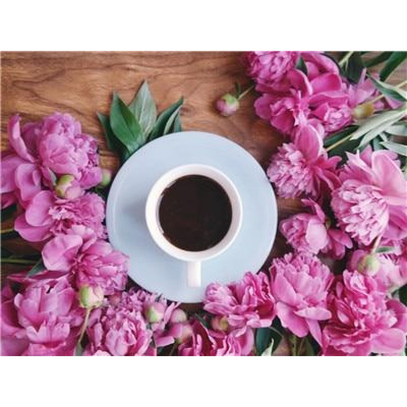 Coffee Cup And Flowe...