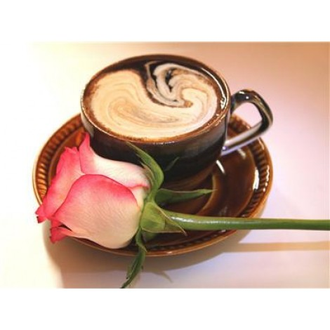 Coffee Cup And Flowers Diy 5d Bling Bling Art Diamond Painting Kits UK VM3008
