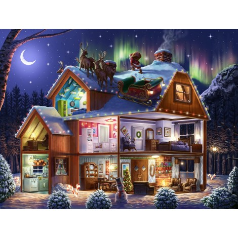 Winter Christmas Tree Village 5D Diy Diamond Painting Kits UK NW91009