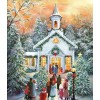 Christmas Tree Village In Winter 5D Diy Diamond Painting Kits UK NW91104