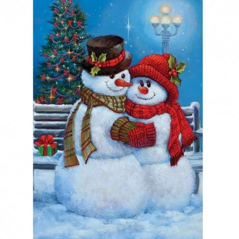 Christmas Snowman Full Drill 5D DIY Diamond Painting Kits UK NW91087