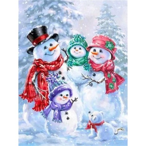 2019 Special Style Full Square Drill Snowman 5d Diy Diamond Painting Kits UK NA0383
