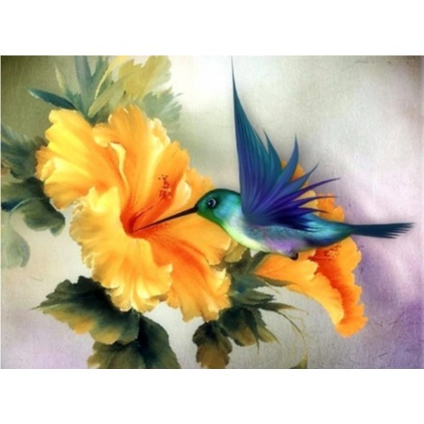 Affordable Bird And Flower Diy 5D Square Diamond Painting UK VM1131