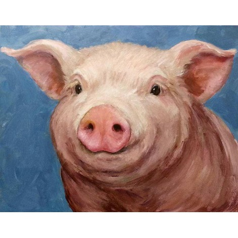 Oil Painting Style Pig 5D Diy Embroidery Cross Stitch Diamond Painting Kits UK NA00340