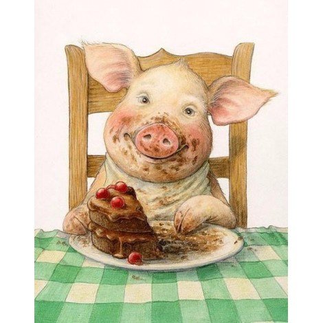 Funny Full Square Drill Pig 5D Diy Cross Stitch Diamond Painting Kits UK NA0319