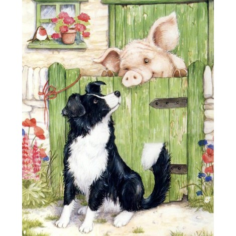 Oil Painting Style Pig 5D Diy Embroidery Diamond Painting Kits UK NA0332