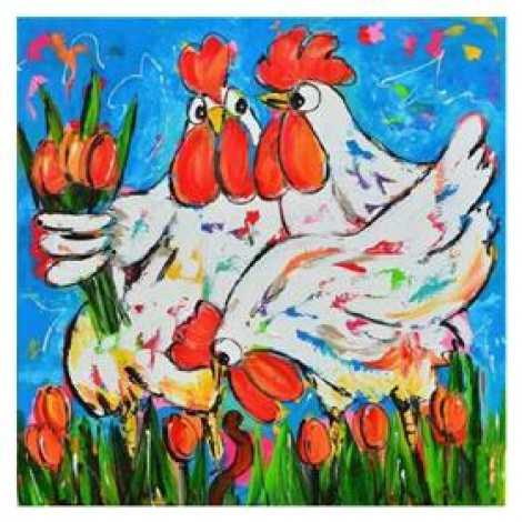 Cartoon Full Square Drill Cock 5D Diy Cross Stitch Diamond Painting Kits UK NA0202
