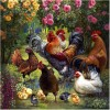 Oil Painting Style Cock 5D Diy Embroidery Cross Stitch Diamond Painting Kits UK NA0272