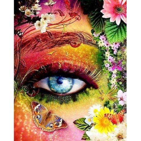 Hot Sale Special Colorful Eyes Butterfly 5d Diy Diamond Painting Kits UK VM9857