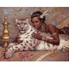 2019 New Hot Sale Beauty And Animal Leopard 5d Diy Diamond Painting Kits UK VM8071