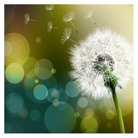 2019 New Hot Sale Cross Stitch Dandelion Diy 5d Crystal Diamond Painting Kits UK QB5159