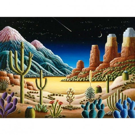 Cartoon Plant Cactus 5D Diy Cross Stitch Diamond Painting Kits UK NA0344