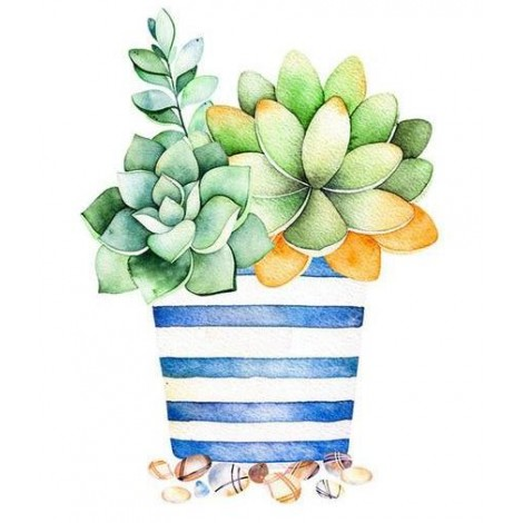 Cartoon Plant Cactus 5D Diy Embroidery Cross Stitch Diamond Painting Kits UK NA0352