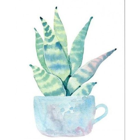 Cheap Full Square Drill Plant Cactus 5d Diy Embroidery Diamond Painting Kits UK NA0527