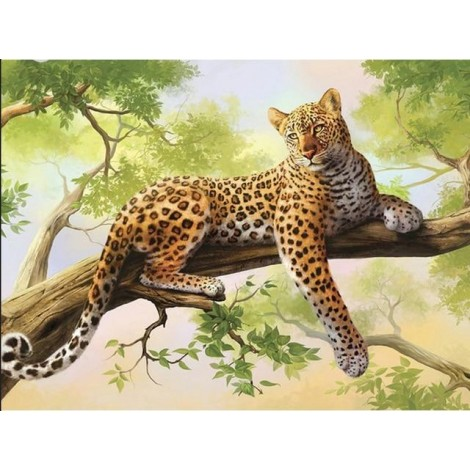 2019 Hot Sale Wall Decor Animal Leopard Portrait 5d Cross Stitch Kits UK VM8409