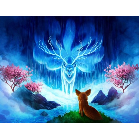 Fantasy Fox 5d DIY Diamond Painting Kits UK KN80075