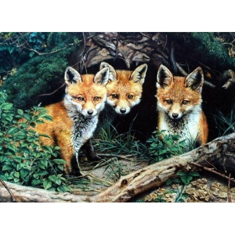 2019 New Hot Sale Mosaic Decor Animal Fox 5d DIY Diamond Painting Kits UK VM8293