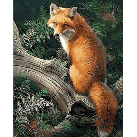 Oil Painting Style Fox 5d Diy Embroidery Cross Stitch Diamond Painting Kits UK NA0463