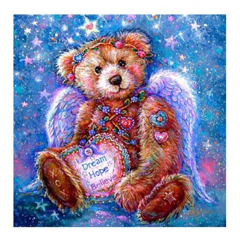 Bedazzled Lovely Cartoon Styles Bear Diamond Painting Kits UK AF9700