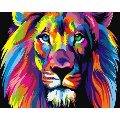 2019 Special Popular Colorful Lion Diy 5d Diamond Embroidery Kits UK VM3527