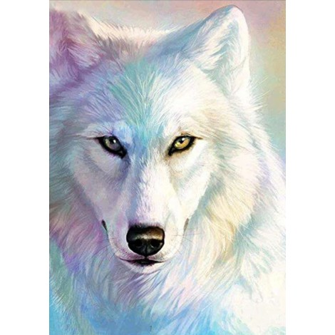2019 New Dream Full Square Wolf 5d Resin Diamond Painting UK VM8602